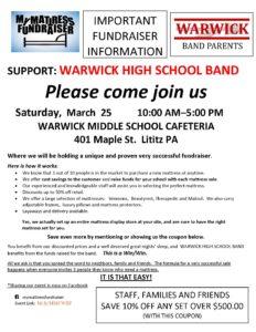 Warwick Information Email